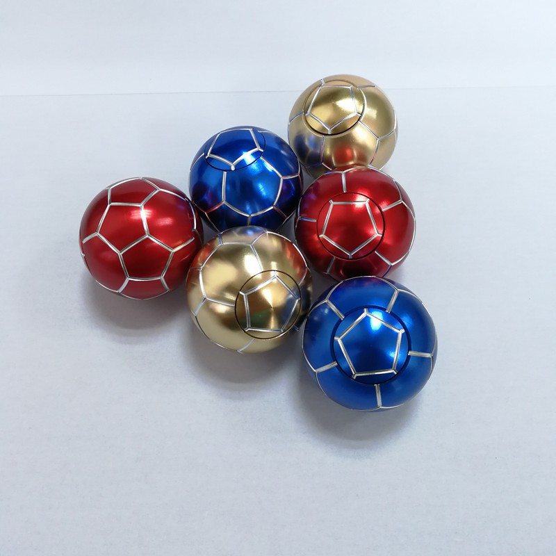 Colorful Sport Football Ball Fidget Spinner Metal Handing Spinner Reduce Stress Attention Football Creative Children's Toys