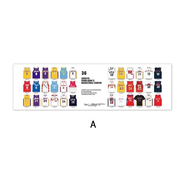 36 Jersey from Kobe's Basketball Career Poster Black Mamba Spirit ...