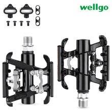 Wellgo велосипедные самоблокирующиеся Плоские Педали на платформе