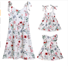 2019 Summer Family Dress Identical Sets for Mother and Daughter Dresses for Girls Same Clothes for Mother and Daughter Cotton