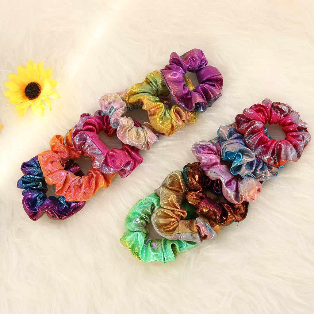 Блестящие подлинные простые резинки аксессуары для волос красочные веревки хвост зажим для волос аксессуары для девочек и женщин 35h