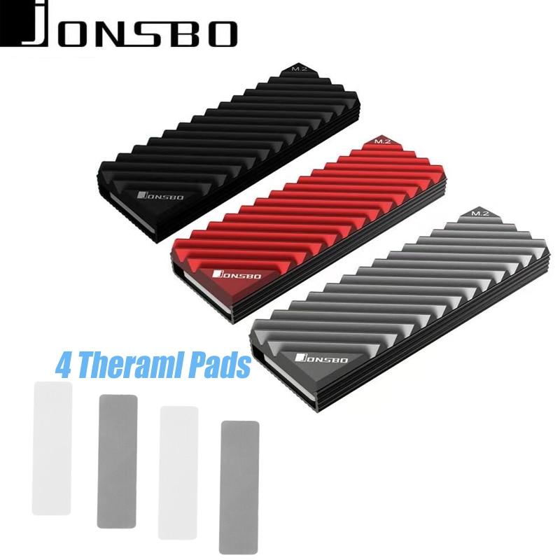 Jonsbo M2-3 SSD NVMe теплоотвод M2 2280 SSD жесткий диск алюминиевый теплоотвод с тепловой прокладкой для SSD M.2 Настольный ПК тепловой