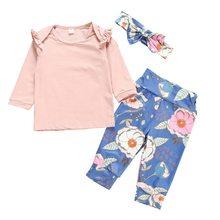 2 шт детская блузка с длинным рукавом цветочным принтом