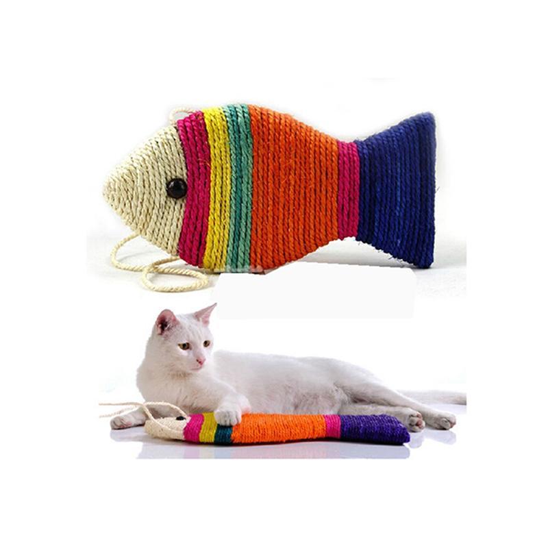 Fish Shape Cat Toys Cat Scratch Board Scratching Pad Cats Grinding Nail Scraper Mat Cat Scratcher Toy(Random Color)