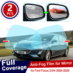 for Ford Focus 2 3 4 2004~2019 Full Cover Anti Fog Film Rearview Mirror Accessories MK2 MK3 MK4 2008 2012 2014 2016 2018 2019 ST