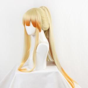 Image 3 - DIOCOS Anime Demon Slayer Kimetsu Geen Yaiba Agatsuma Zenitsu Cosplay Pruiken Mannen Vrouwen 90cm Lange Hittebestendige Haar