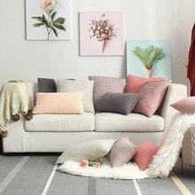 Modern Simple Nordic Velvet Pillow Cover Vertical Terms Cushion For Sofa Decoration Slipcover Slip cover