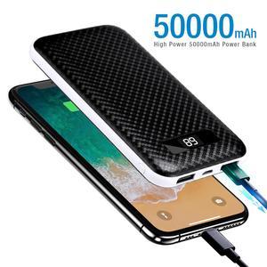50000 мАч ЖК-дисплей внешний аккумулятор Двойной USB внешний аккумулятор портативное зарядное устройство для быстрой зарядки мобильного телеф...