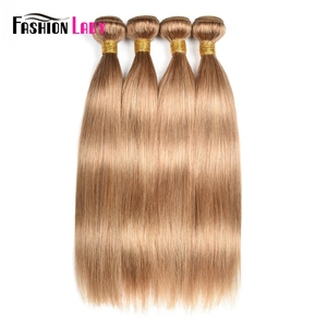 Image 4 - Fashion Lady Pre Colored Brazilian Hair Weave Bundles Blonde Human Hair Weave 27# Straight Hair Bundles Non remy