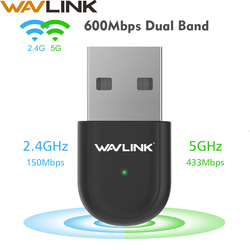 AC600 USB Wifi מתאם 5Ghz Wifi רשת כרטיס 600Mbps Dual Band 802.11AC אלחוטי Ethernet מקלט עבור windows Mac OS