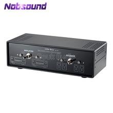 Nobsound אודיו קומפרטור רשת מוצלב סטריאו 2 דרך מגבר/רמקול Switcher פסיבי בורר