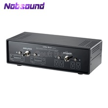 Nobsoundオーディオコンパレータクロスオーバーネットワークステレオ 2 双方向アンプ/スピーカースイッチャーパッシブセレクタ