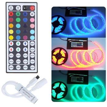 DC 5-24V RGB kontroler LED Mini 24 44 klawiszy RGB IR pilot zdalnego sterowania do 3528 lub 5050 taśmy LED RGB kontroler RGB taśma Led tanie i dobre opinie IR Controller ZL-MINI-24 RGB Controller 2years led strip ROHS common anode 12 v RGB Controler