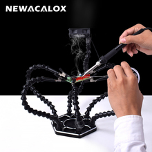 NEWACALOX Third Hand Soldering  Tool with USB Smoke Exhaust Device  Soldering PCB Holder Tool Welding Station for Crafts Repair