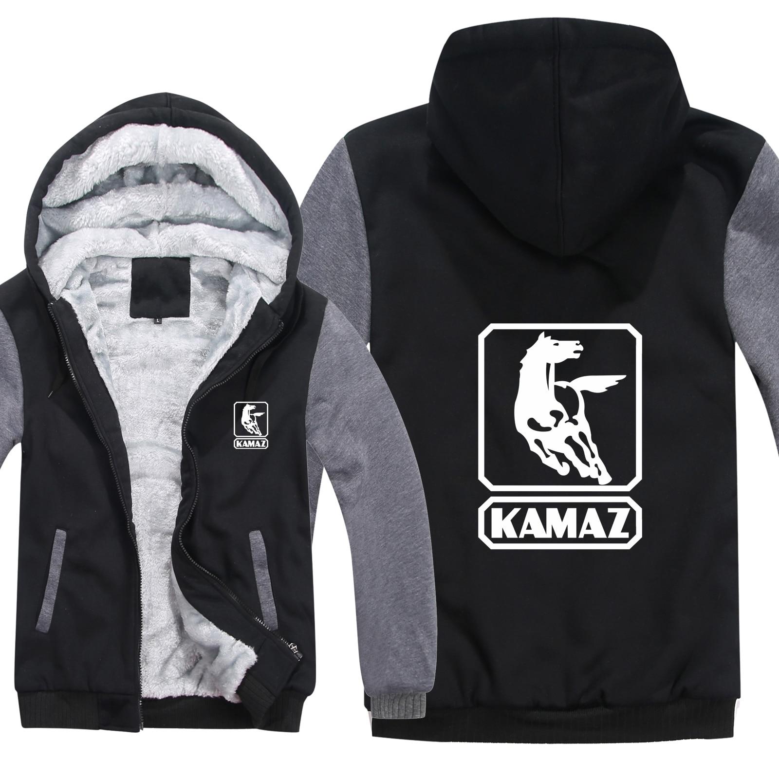 Kamaz Truck Hoodies Men Casual Coat Wool Liner Jacket Kamaz Truck Sweatshirts Mans Pullover HS-032