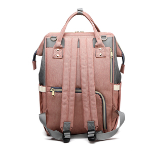 Image 2 - USB Diaper Bag Baby Care Backpack for Mom Mummy Maternity Wet Bag Waterproof Multi Function Stroller Bag LEQUEEN