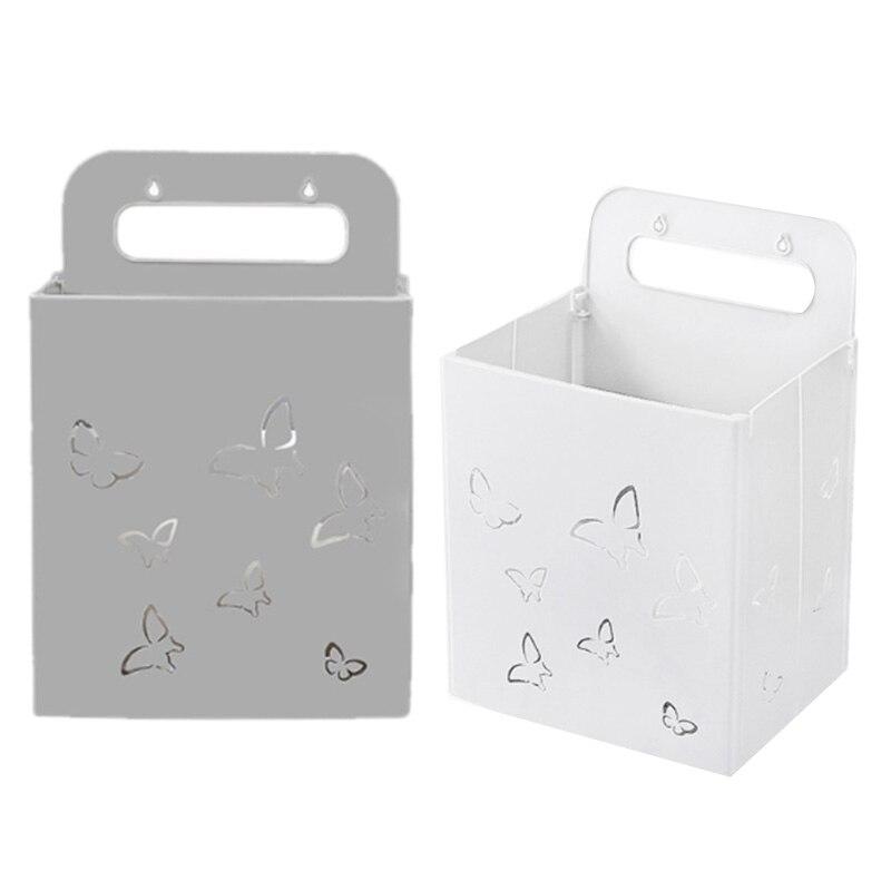 Ev ve Bahçe'ten Çamaşır Sepetleri'de 2 paket çamaşır sepeti katlanabilir kirli çamaşır sepeti  asılı çamaşır kollu sepet depolama sepeti (gri + beyaz) title=