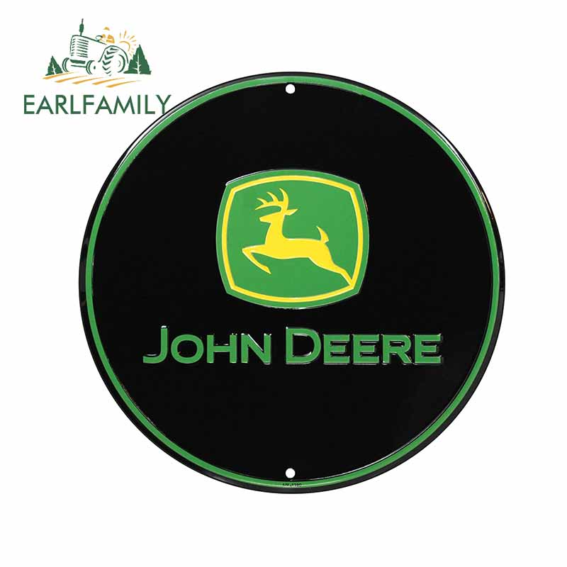 EARLFAMILY 13cm X 13cm For John Deere Funny Car Stickers Fashion Graphics Decal 3D Scratch-proof Waterproof For JDM SUV RV
