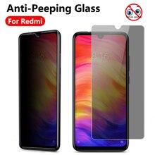 Anti-Spy Tempered Glass on For Xiaomi Mi 9 se cc9e cc9 redmi note 7 8 Pro 7A 8A Anti-Peeping screen protector Privacy glass Film