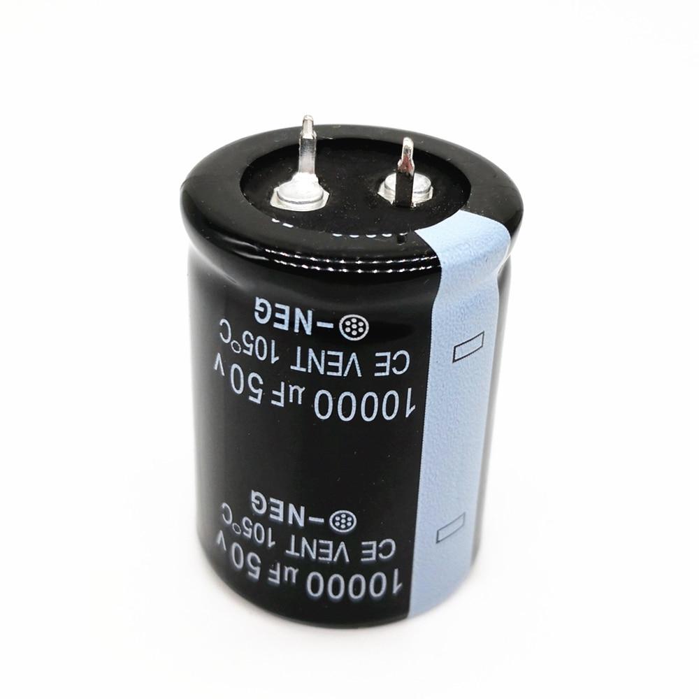 2pcs/lot 50V 10000UF Radial DIP Aluminum Electrolytic Capacitors Size 30*40 10000UF 50V Tolerance 20%