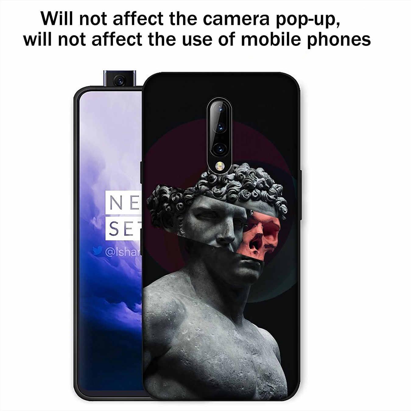 Funda de teléfono de silicona negra TPU suave con estatua de arte David De Van Gogh para OnePlus 7T 7 Pro 6 6T 5 5T One Plus 7Pro