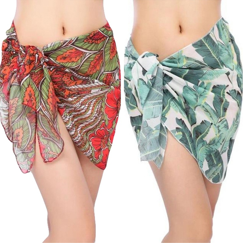 New Beach Sarong For Swim Bathing Suit Swimsuit Arrival Women Swimwear Beach Skirt Print Chiffon Cover Up Bikini Wrap