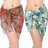 New Beach Sarong For Swim Bathing Suit Swimsuit Arrival Women Swimwear Beach Skirt Print Chiffon Cover Up Bikini Wrap