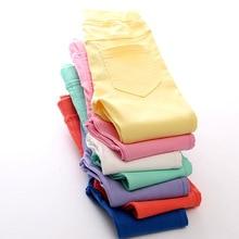 Весенне-летние штаны для девочек хлопковые леггинсы для девочки детские штаны ярких цветов узкие брюки-Карандаш для девочек возрастом от 3 до 13 лет