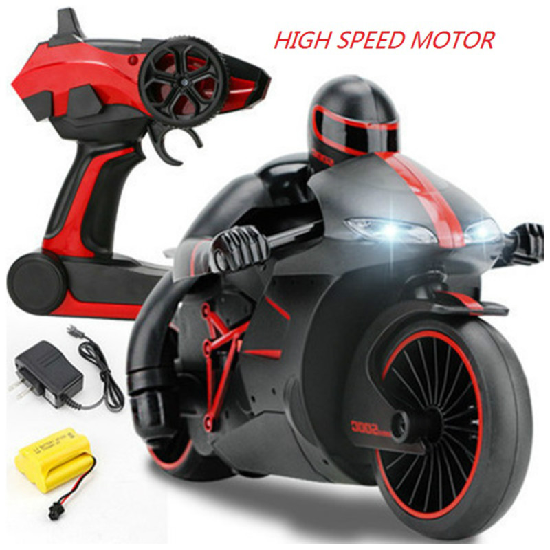 2.4G Mini Fashion RC Motorcycle with Cool Light High Speed Motorbike Model Toy Remote Control Drift Motor Gifts for Boy Children