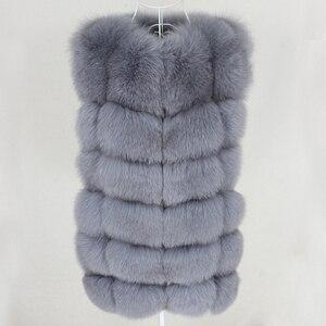 Image 5 - OFTBUY Chaleco de piel de zorro Real para mujer, chaqueta de invierno sin mangas, abrigo de piel Natural, chaleco calentador, ropa de calle cálida gruesa