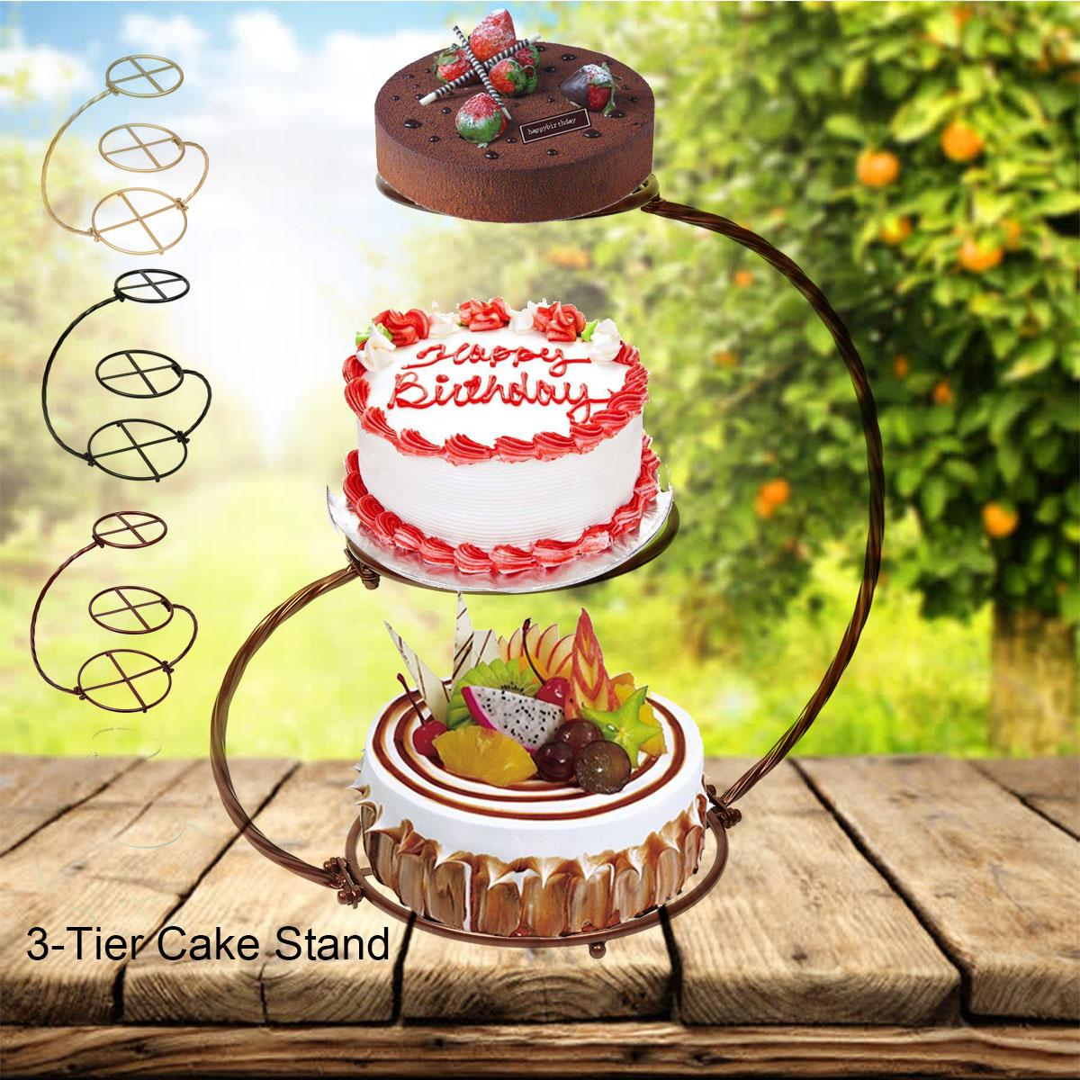 3 Tier Cake Stand Metal For Wedding 60cm Height Wedding Birthday Party Supply Display Decorations