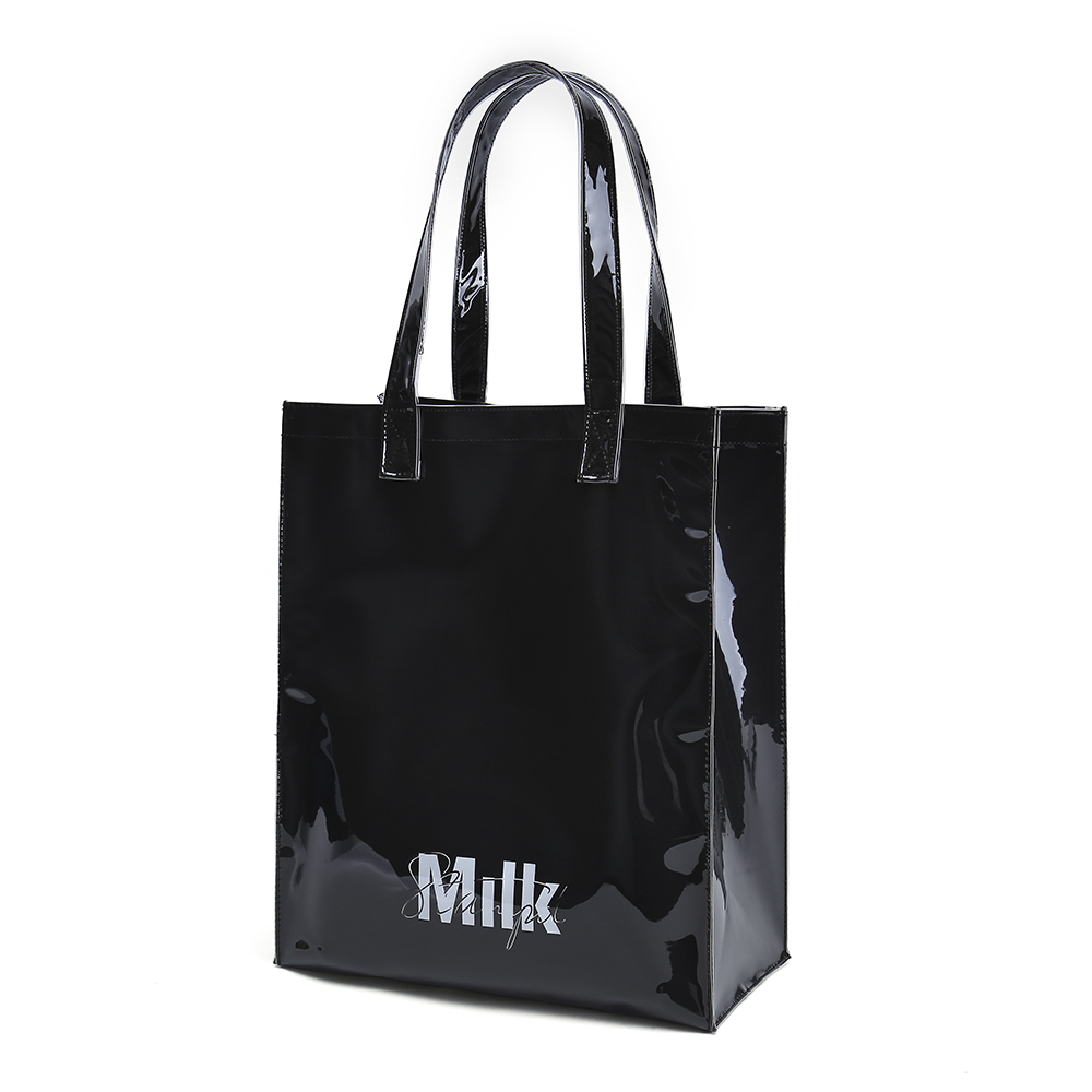 Black Tote Bag With Twill Cotton Lining And Interior Pocket Available For Custom