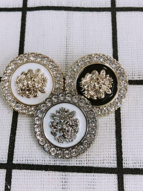 10pcs/lot Lion head metal button gold sweater coat decoration shirt buttons accessories DIY