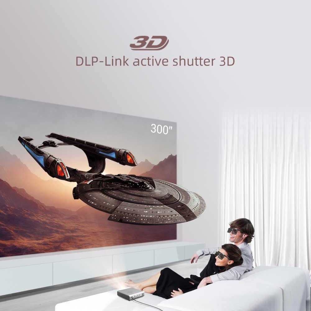 BYINTEK U50 Pro 1920*1080P Full HD Mini 3D 4K Android Wifi inteligente láser portátil LED, Proyector DLP Proyector para Smartphone