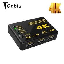 4K HDMI ספליטר מתג מתאם 5 יציאת HDMI מתאם Switcher Ultra HD HDCP 3D HDR מתג בורר ספליטר רכזת מרחוק USB כבל