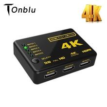 4K مقسم الوصلات البينية متعددة الوسائط وعالية الوضوح (HDMI) التبديل محول 5 ميناء محول HDMI الجلاد الترا HD HDCP ثلاثية الأبعاد HDR التبديل محدد الفاصل محور البعيد كابل يو اس بي