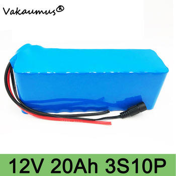 lithium battery 12v battery pack bateria 12v 20ah 18650 discharge protection bms With EU Plug portable 12v dc battery bms 3s 10p