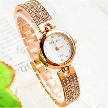 King Girl Watch Luxury Women Rose Gold Watches Crystal Quartz Bangle montre bracelet femme horloges vrouwen