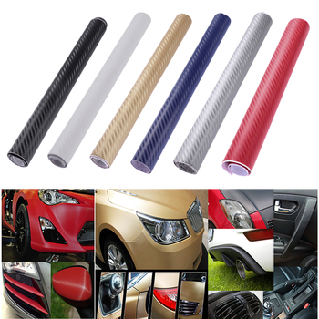 3D Car Carbon Fiber Film Wrap Roll DIY Sticker For Car Auto Vehicle Decal 30x127cm Ca Styling Decoration Sticker image
