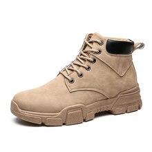 Новые ботильоны кожаные кроссовки мужская обувь повседневная