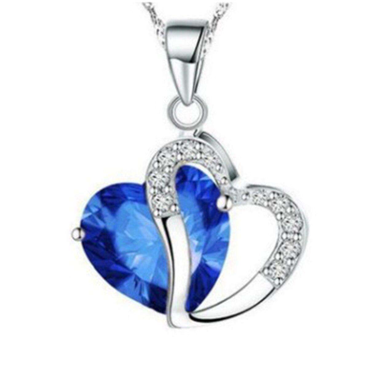Ожерелье из серии сердец для женщин, серебристое ожерелье с полым сердцем, прозрачное Стразы, свадебная бижутерия длиной 45 см (17 6/8 дюйма), 1 ш...