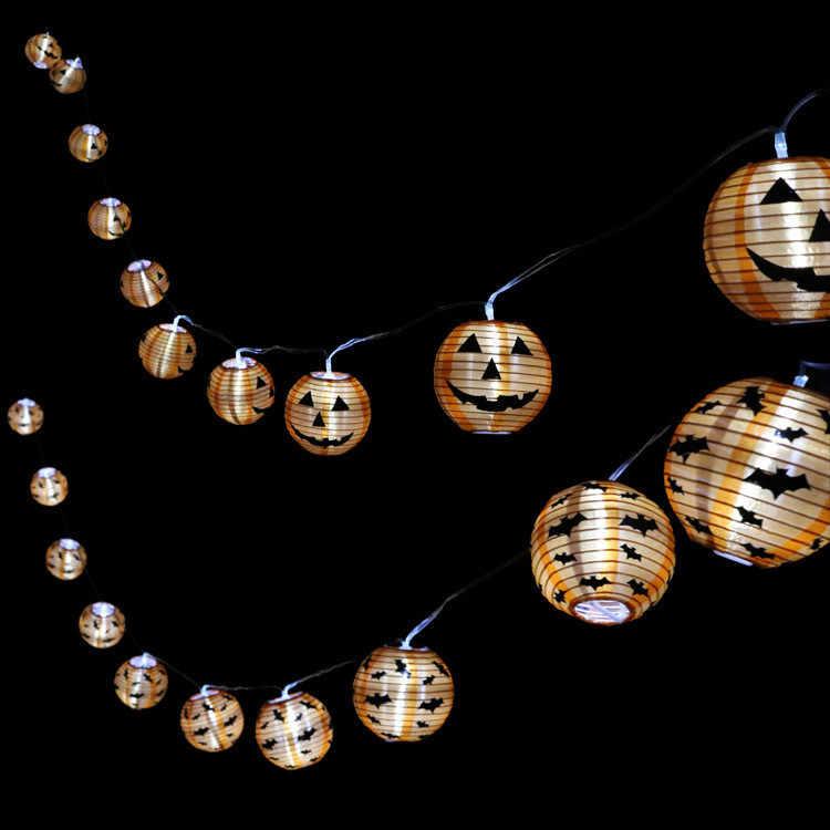 2.4M 10LED fioletowy światła ciąg na imprezie z okazji Halloween lampa ozdobna dostaw lampiony dekoracyjne DIY festiwal rzemiosła Lantern19SEP5