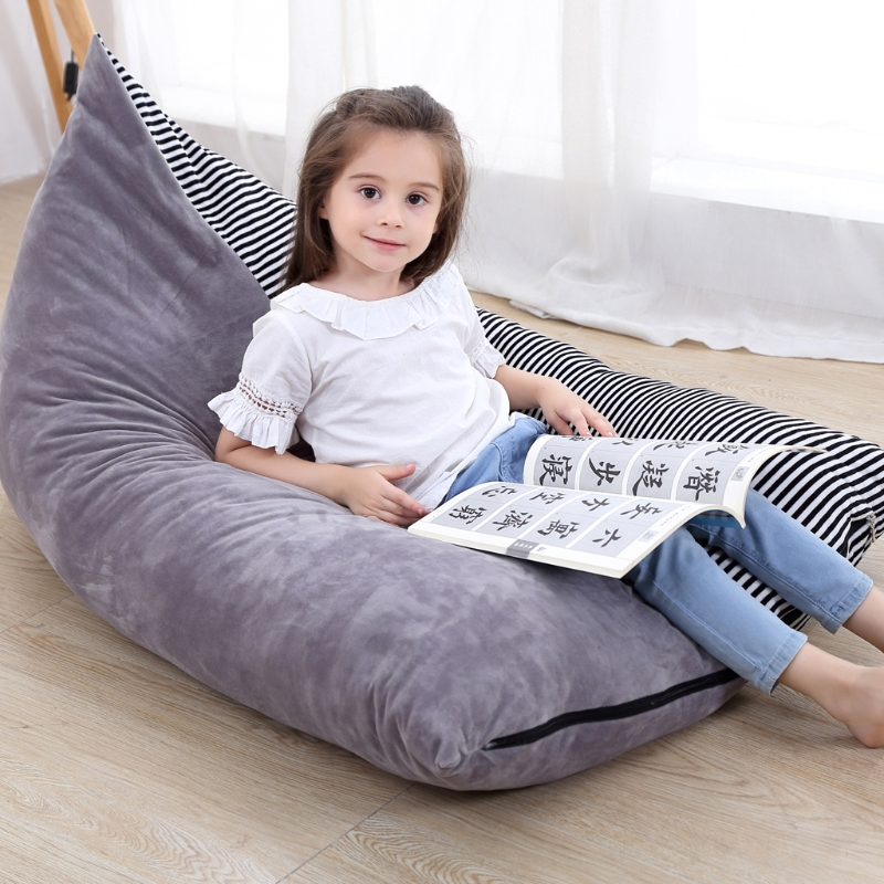 Stuffed Animal Storage Bean Bag Chair Baby Kid Toy Storage Bag Clothes Organizer