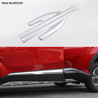 For Toyota CHR C HR 2017 2018 2019 Car Body Side Door trim Strip Molding Stream panel bumper hoods moulding Car Accessories