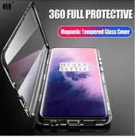 Fall für OnePlus 7 Pro 360 ° Volle Schutz Magnetic Cases Abdeckung für One Plus 7 Pro 1 + 7 6,67 Metall doppel Glas Fall