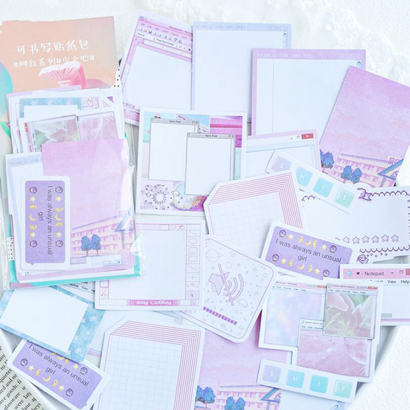 45Pcs/pack Cute Weekly Plan Sticky Notes Memo Pad Kawaii Stationery School Supplies Planner Label Paper Journal Stickers Supplie