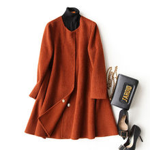 4040 Double Sided Wool Coat of Women's Cashmere Alpaca Wool Coats Women Winter Jacket Loose manteau femme 37049 WYQ3377(China)