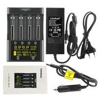LiitoKala-cargador de batería de Lii-600, accesorio para baterías de iones de litio de 3,7 V y NiMH de 1,2 V, adecuado para 18650, 26650, 21700, 26700, adaptador AA AAA12V5A
