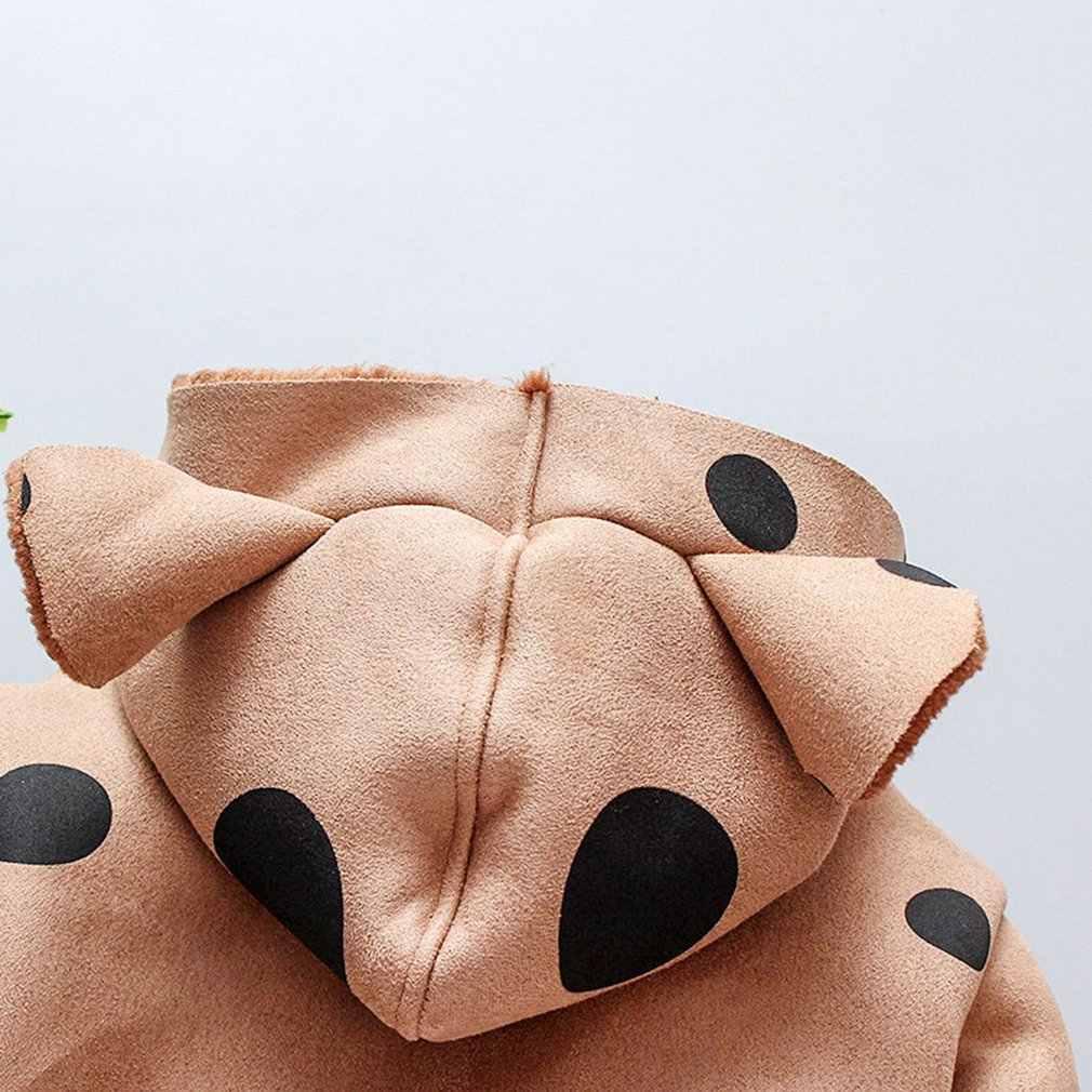 معطف الأطفال الخريف الشتاء جديد ثوب أطفال فتاة Lupirong دوت الطفل مع المخملية الفراء المد واحد