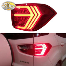 car styling 4pcs set for ford mondeo fusion 2013 2014 2015 2016 taillights led taillight led rear lamp brake reversing signal Car LED Tail Light Taillight For Ford Ecosport 2013 - 2019 LED Rear Running Light + Brake Light + Dynamic Turn Signal Lamp
